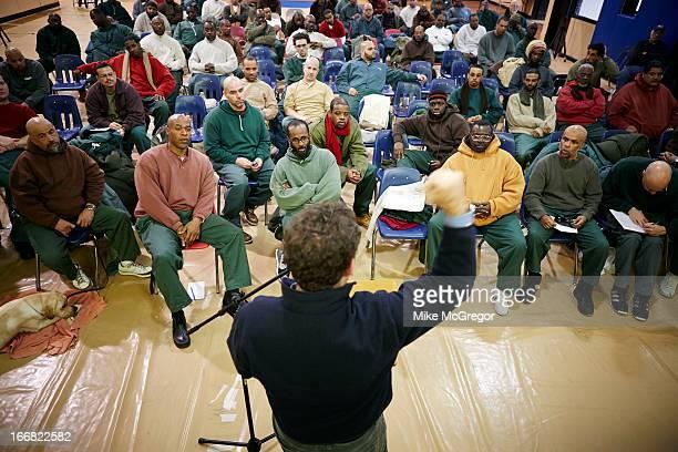 Author/documentary filmmaker Eugene Jarecki is photographed for at Otisville Correctional Facility on February 18 2013 in Otisville New York...