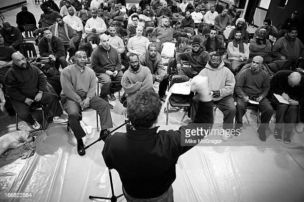 Author/documentary filmmaker Eugene Jarecki is photographed for at Otisville Correctional Facility on February 18 2013 in Otisville New York