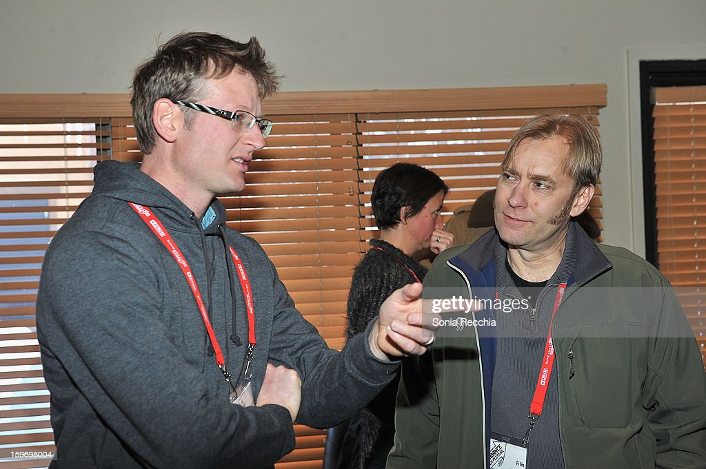 Author/environmentalist Mark Lynas and editor Don Kleszy attend the 'Pandora's Promise' premiere at Prospector Square during the 2013 Sundance Film Festival on January 18, 2013 in Park City, Utah.