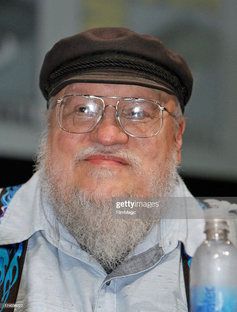 Author-executive producer <a gi-track='captionPersonalityLinkClicked' href=/galleries/search?phrase=George+R.R.+Martin&family=editorial&specificpeople=7426691 ng-click='$event.stopPropagation()'>George R.R. Martin</a> speaks at HBO's 'Game Of Thrones' panel at San Diego Convention Center on July 19, 2013 in San Diego, California.