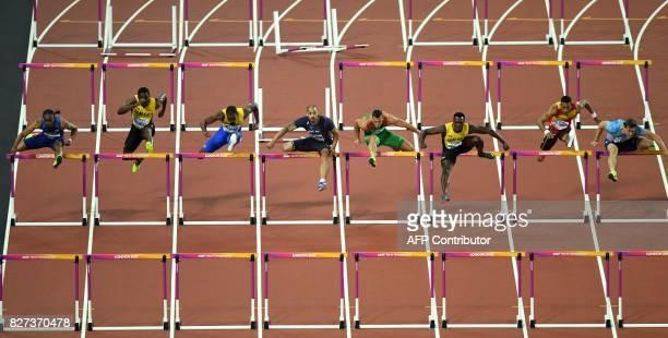 Authorised Neutral Athlete Sergey Shubenkov Spain's Orlando Ortega Jamaica's Omar Mcleod Hungary's Balázs Baji France's Garfield Darien Barbados'...