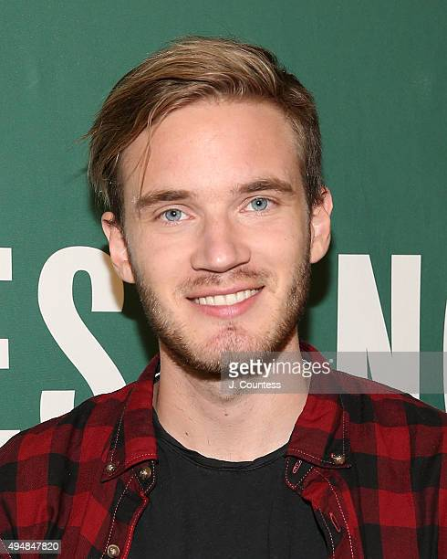 Author/media personality PewDiePie poses for a photo at an book signing for his book 'This Book Loves You' at Barnes Noble Union Square on October 29...