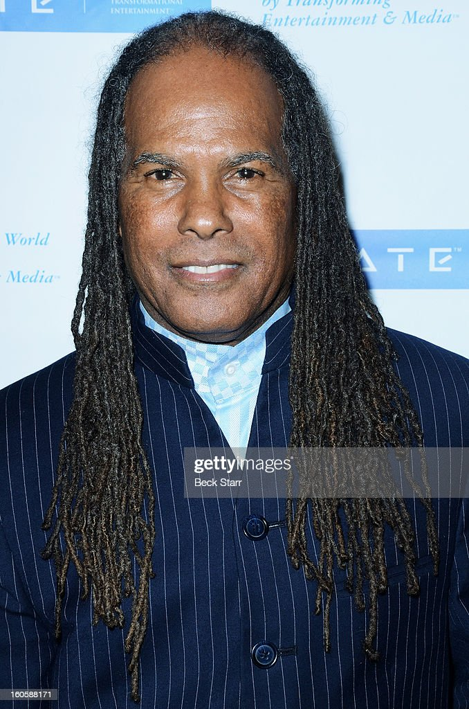 Author/minister Dr. Michael Beckwith arrives at 'GATE', Global Alliance For Transformational Entertainment's 3rd annual green carpet event at Saban Theatre on February 2, 2013 in Beverly Hills, California.