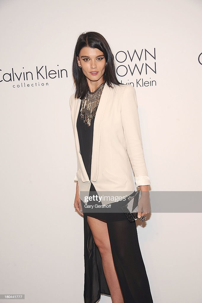 Author/model <a gi-track='captionPersonalityLinkClicked' href=/galleries/search?phrase=Crystal+Renn&family=editorial&specificpeople=2216376 ng-click='$event.stopPropagation()'>Crystal Renn</a> attends the Calvin Klein Collection post show event at Spring Studios on September 12, 2013 in New York City.