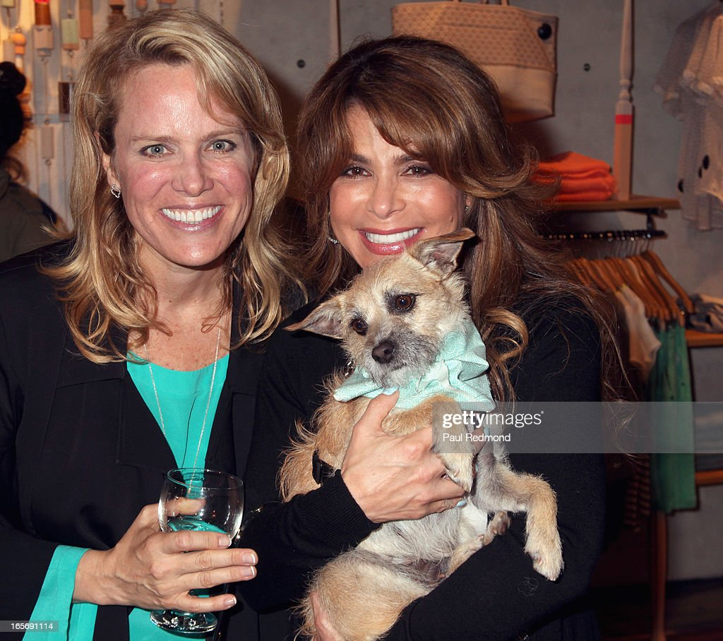 Author/producer Lisa Erspamer and singer <a gi-track='captionPersonalityLinkClicked' href=/galleries/search?phrase=Paula+Abdul&family=editorial&specificpeople=202119 ng-click='$event.stopPropagation()'>Paula Abdul</a> attend 'A Letter To My Dog: Notes To Our Best Friends' cocktail party and book signing at Anthropologie on April 4, 2013 in Beverly Hills, California.