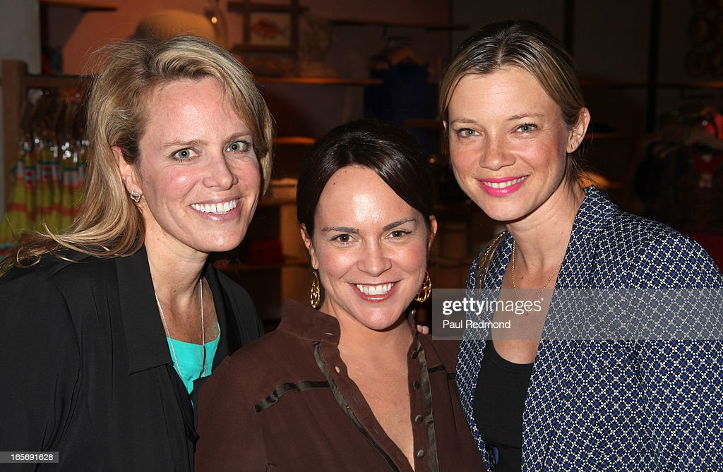 Author/Producer Lisa Erspamer, Kimi Culp, and actress Amy Smart attend 'A Letter To My Dog: Notes To Our Best Friends' cocktail party and book signing at Anthropologie on April 4, 2013 in Beverly Hills, California.