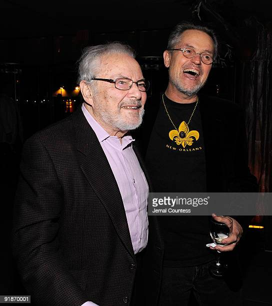 Author/producer Maurice Sendak and film director Jonathan Demme attend the after party for the 'Where The Wild Things Are' premiere at The Museum of...