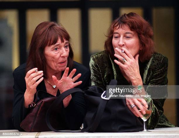 Authors Beryl Bainbridge and Victoria Glendinning at the British Library in London today to help mark the thirtieth anniversary of The Booker Prize...