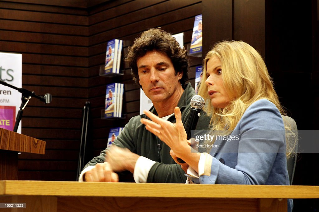 Authors Bobby Williams and Mariel Hemingway sign copies of their book 'The Willing Way' at Barnes & Noble bookstore at The Grove on April 1, 2013 in Los Angeles, California.