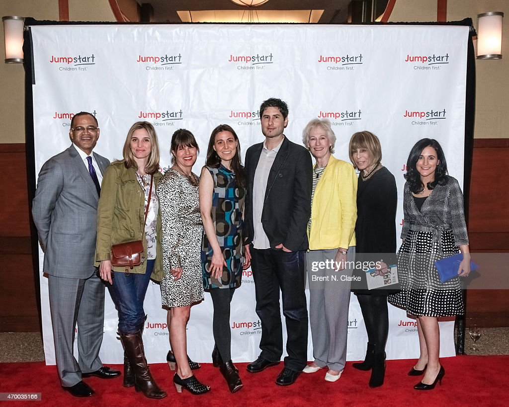Authors David C. Banks, Isabel Gillies, E. Lockhart, Rebecca Stead, Matt De La Pena, Lucy Ferriss, Cynthia Weil and Sarah Mlynowski pose for photographs during the Scribbles To Novels 10th Anniversary Gala held at Pier Sixty at Chelsea Piers on April 16, 2015 in New York City.