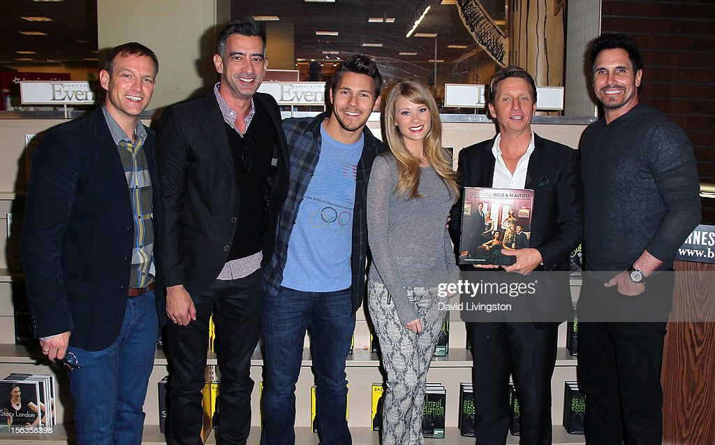 Authors David Gregg and Adrian Aviles, 'The Bold and the Beautiful' cast members Scott Clifton and Kim Matula, executive producer Bradley Bell and cast member Don Diamont attend a signing for 'Becoming Bold & Beautiful' at Barnes & Noble bookstore at The Grove on November 13, 2012 in Los Angeles, California.