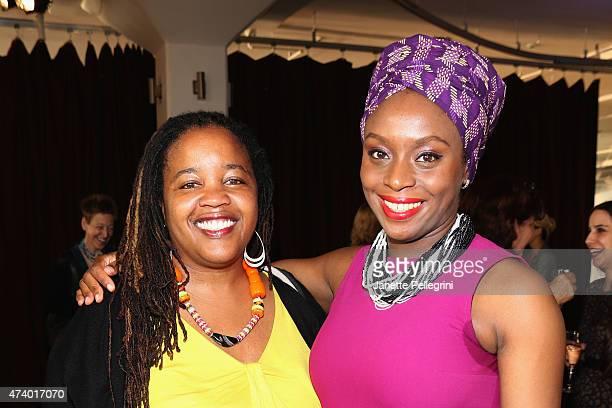 Authors Farai Chideya and Chimamanda Ngozi Adichie attend the Girls Write Now Awards honoring Chimamanda Ngozi Adichie Pamela Paul and Juju Chang at...