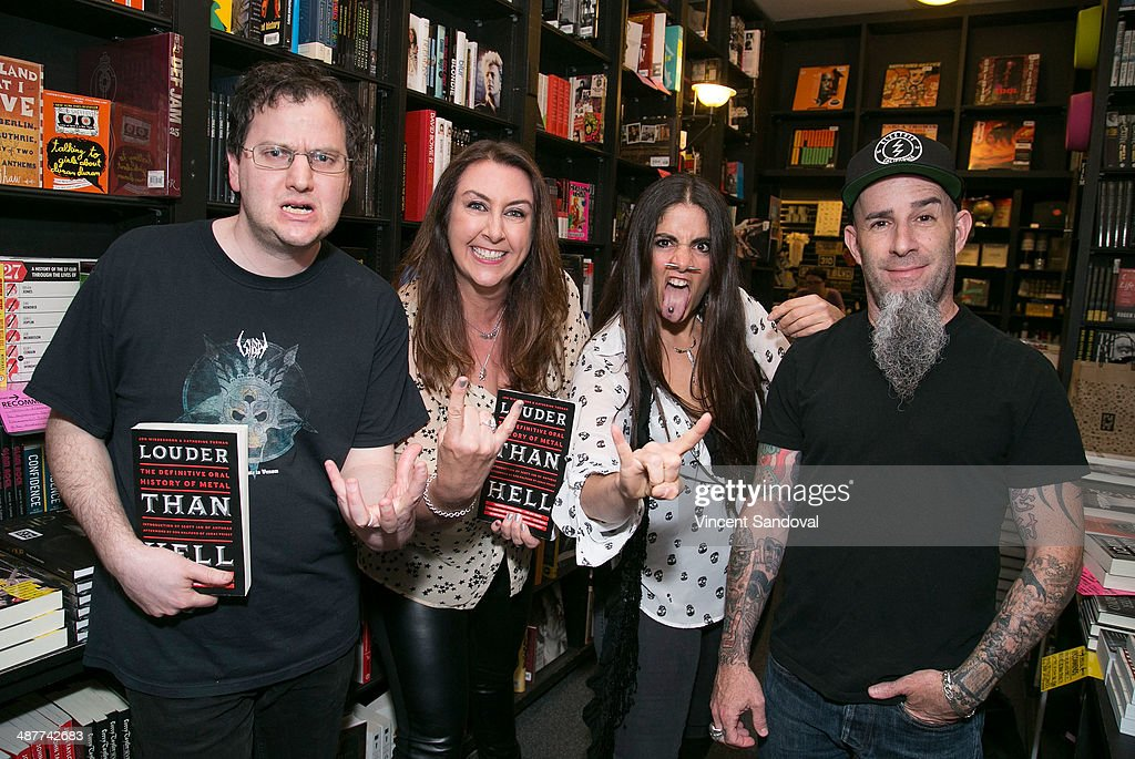 Authors Jon Wiederhorn Katherine Turman photographer Stephanie Cabral and musician Scott Ian attend the 'Louder Than Hell The Definitive Oral History...