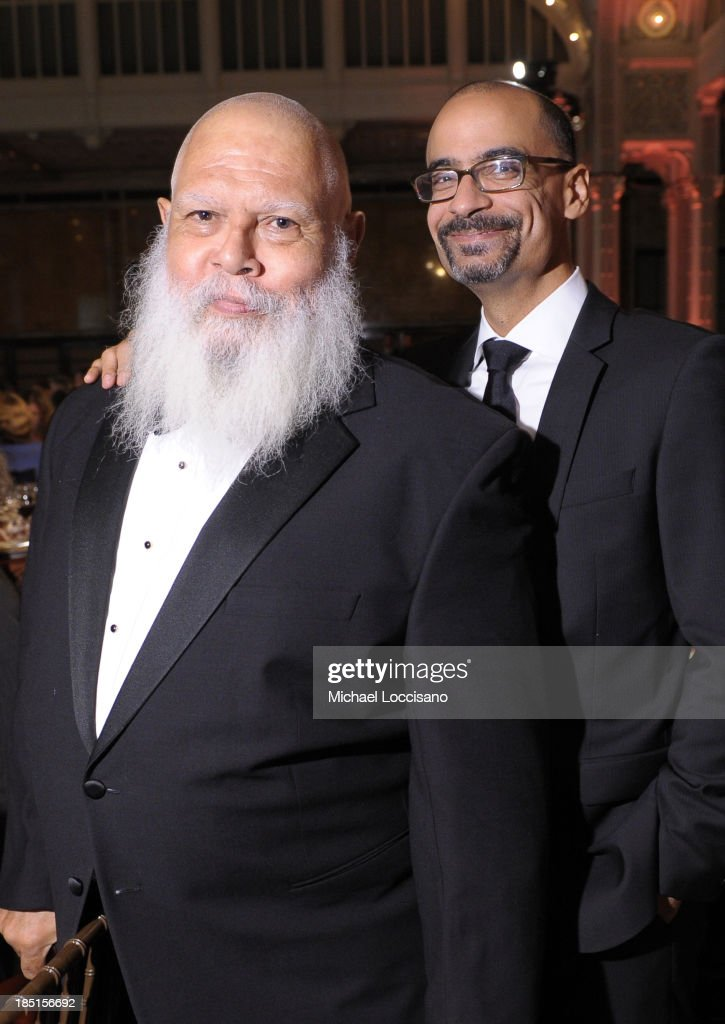 Authors Samuel R. Delany (L) and Junot Diaz attend the Norman Mailer Center's Fifth Annual Benefit Gala sponsored by Van Cleef & Arpels at the New York Public Library on October 17, 2013 in New York City.