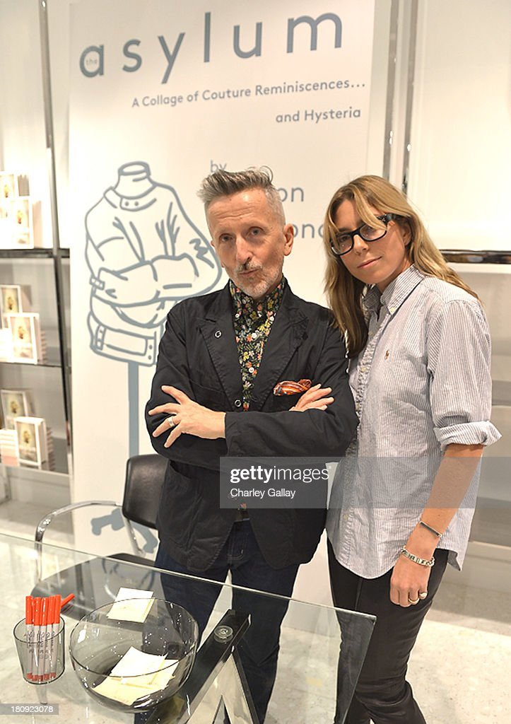 Authors Simon Doonan and designer Rachel Stewart attend Barneys New York Cocktail Event with Simon Doonan and 'Man Repeller' Leandra Medine at Barneys New York At The Grove on September 17, 2013 in Los Angeles, California.
