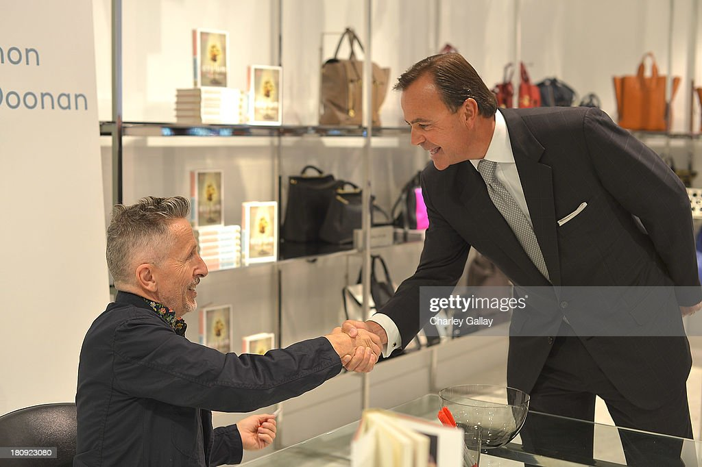 Authors Simon Doonan (L) and developer Rick Caruso attend Barneys New York Cocktail Event with Simon Doonan and 'Man Repeller' Leandra Medine at Barneys New York At The Grove on September 17, 2013 in Los Angeles, California.