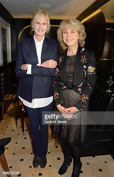 Authors Siri Hustvedt and Anne Sebba attend a private dinner hosted by PORTER Magazine for author Siri Hustvedt at Toto's Restaurant on May 27 2014...