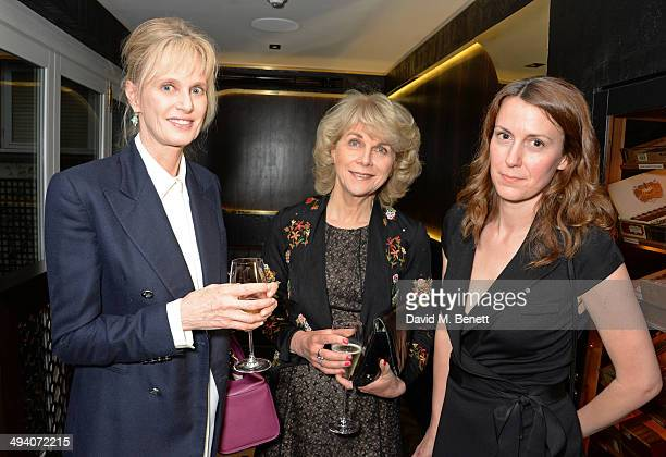 Authors Siri Hustvedt Anne Sebba and Susie Rushton Deputy Editor of PORTER magazine attend a private dinner hosted by PORTER Magazine for author Siri...