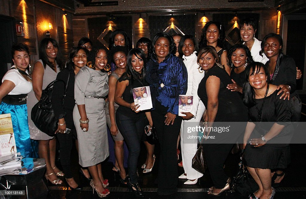 Authos Candace Sandy (c) and contributing writers attend a press reception for 'Souls of My Young Sisters' at Covet on May 20, 2010 in New York City.