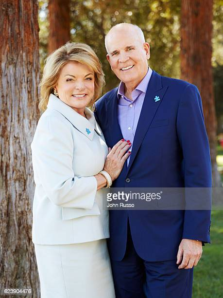 Autism Speaks cofounders Bob Wright and Suzanne Wright are photographed on October 8 2015 in Los Angeles California