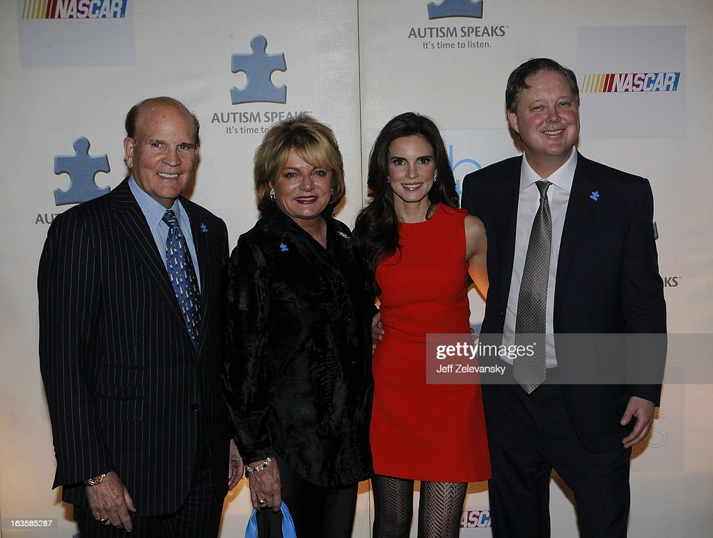 Autism Speaks founders Bob and <a gi-track='captionPersonalityLinkClicked' href=/galleries/search?phrase=Suzanne+Wright&family=editorial&specificpeople=620254 ng-click='$event.stopPropagation()'>Suzanne Wright</a> and NASCAR Chairman and CEO <a gi-track='captionPersonalityLinkClicked' href=/galleries/search?phrase=Brian+France&family=editorial&specificpeople=675720 ng-click='$event.stopPropagation()'>Brian France</a> and wife Amy arrive at 'Speeding For A Cure', a gala to benefit Autism Speaks held at the Metropolitan Museum of Art on March 12, 2013 in New York City.