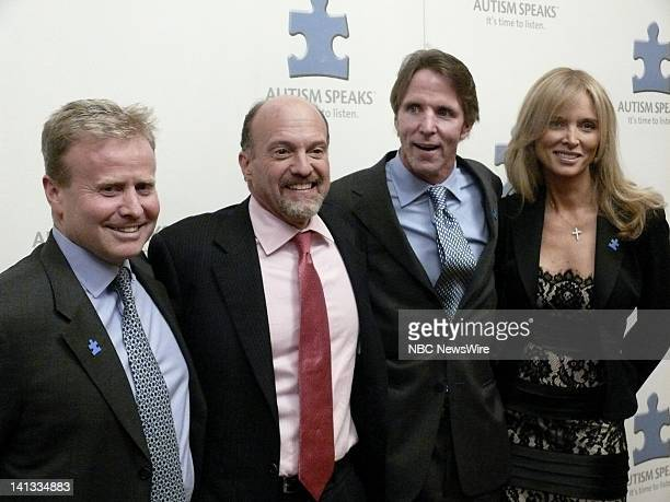 2nd Annual Celebrity Chef Gala Pictured CNBC's Mad Money Jim Cramer Kevin Murray of Autism Speaks and guest during the 'Autism Speaks' spectacular...
