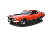 Auto- 1970 Ford Mustang Mach 1