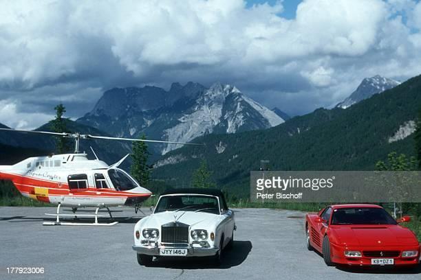 Auto LuxusPkw RollsRoyce Ferarri Helicopter Hubschrauber ARD/ORFFilm 'Da wo die Berge sind 2' Dreharbeiten in Seefeld Tirol sterreich Europa Berge...