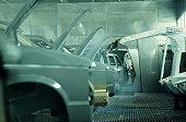 Auto manufacturing robotics; painting