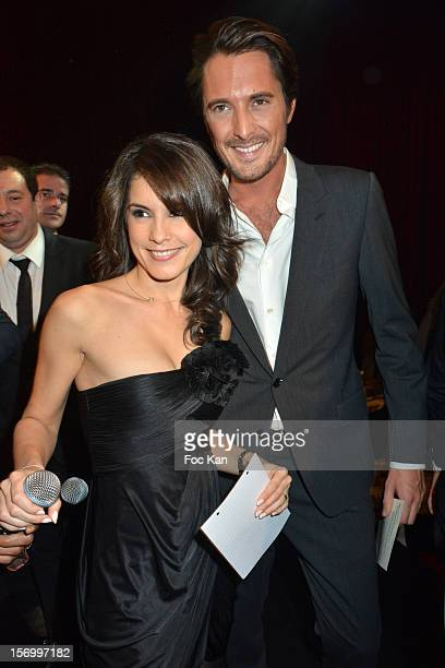 Auto Moto TV presenters Marion Jolles and Vincent Cerutti attend The 'Paris Nuit 2012' Les Trophees De La Nuit Night Clubbing Awards Ceremony at the...