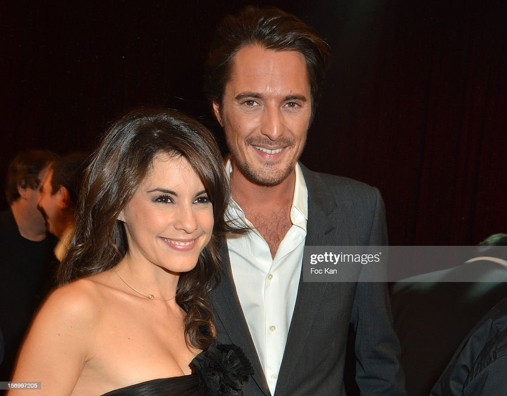 Auto Moto TV presenters Marion Jolles and Vincent Cerutti attend The 'Paris Nuit 2012' - Les Trophees De La Nuit - Night Clubbing Awards Ceremony at the Lido on November 26, 2012 in Paris, France.