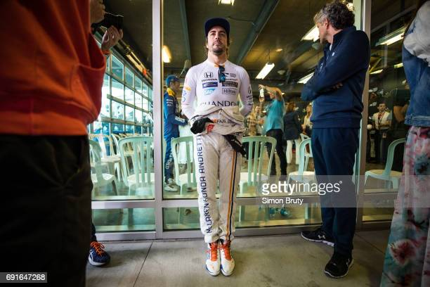 101st Indianapolis 500 Fernando Alonso before race at Indianapolis Motor Speedway Verizon IndyCar Series Indianapolis IN CREDIT Simon Bruty