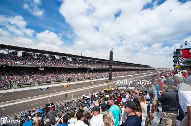 101st Indianapolis 500 Overall view of miscellaneous action during race at Indianapolis Motor Speedway Verizon IndyCar Series Indianapolis IN CREDIT...