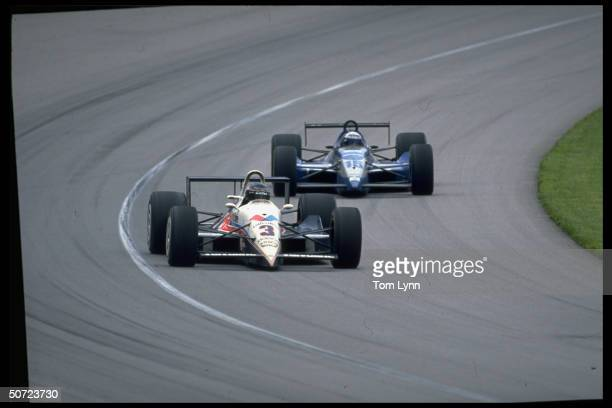 1992 Indy 500 Al Unser Jr #3 Scott Goodyear in action