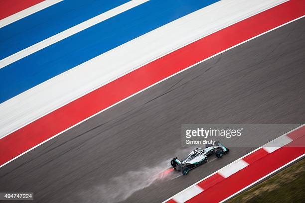 Formula 1 United States Grand Prix Lewis Hamilton of Mercedes AMG Petronas team in action during race at Circuit of the Americas Austin TX CREDIT...