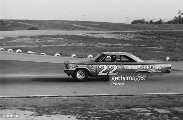 Golden State 400 Fireball Roberts in action during stock car race at Riverside International Raceway Riverside CA CREDIT Phil Bath