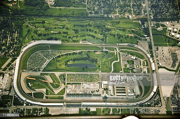 IndyCar 95th Indianapolis 500 Preview Aerial scenic view of track of Indianapolis Motor Speedway Indianapolis IN CREDIT Fred Vuich