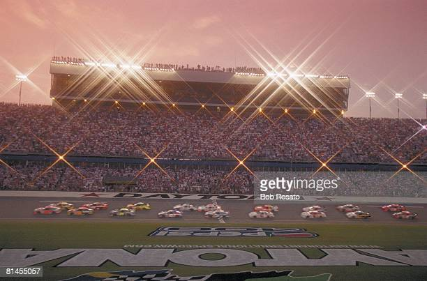 Auto Racing NASCAR Pepsi 400 Scenic view of stadium before race Dale Earnhardt Jr won first race at Daytona International Speedway since his father...