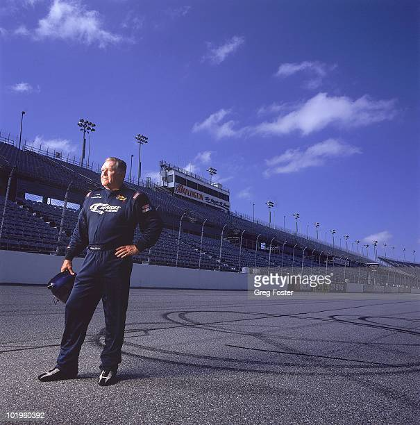 NASCAR Portrait of former driver Buddy Baker during photo shoot at Darlington Raceway Darlington SC 9/25/2004 CREDIT Greg Foster