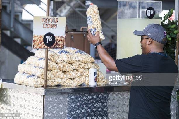 NASCAR Quaker State 400 View of kettle corn being sold by food vendor at Kentucky Speedway Monster Energy NASCAR Cup Series Sparta KY CREDIT David E...