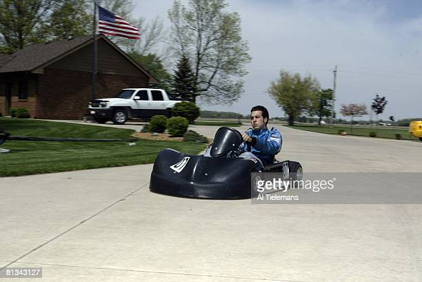 Auto Racing Portrait of IRL driver Sam Hornish Jr driving gocart Defiance OH 5/6/2004