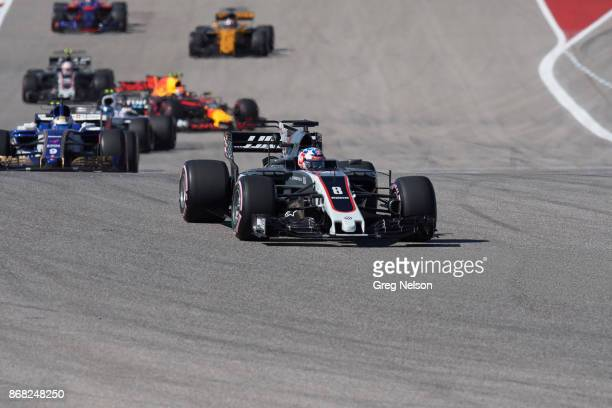 United States Grand Prix Romain Grosjean in action during race at Circuit Of The Americas Austin TX CREDIT Greg Nelson