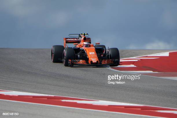 United States Grand Prix Stoffel Vandoorne during practice session at Circuit Of The Americas Austin TX CREDIT Greg Nelson
