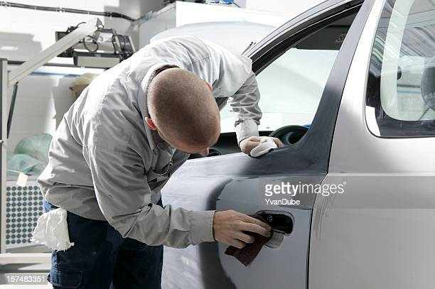 auto repair shop men working