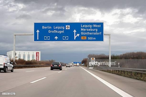 Autobahn A9 in Germany - Leipzig
