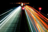 autobahn A12 in Germany at night