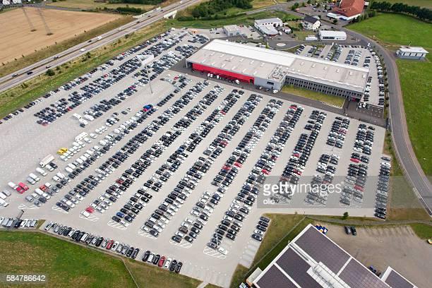 autoexpo car park, aerial view