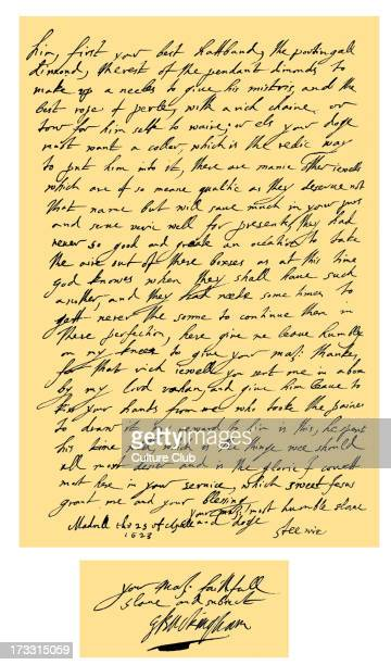 Letter from George Villiers Duke of Buckingham signed 'Steenie' to James I written while the former was with Charles Prince of Wales in Madrid George...