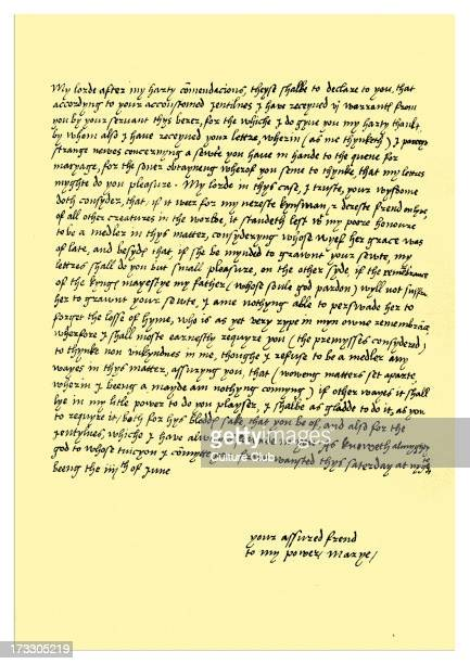 Letter written from Queen Mary I 4 June 1547 before her accession She writes to Thomas Seymour in response to his request for her assistance towards...