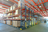 Mobile Aisle Racking System in Distribution Warehouse